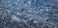 Mini London - Shard & Tower Bridge, River Themes (Andy.Gocher) Tags: uk london architecture buildings river boats europe mini aerial mode windowseat themes aeroplanewindow sigma18250 canon100d aeroplaneseat miniaturemode andygocher