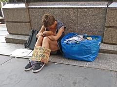 BostonBigBlueTote (fotosqrrl) Tags: urban sign boston massachusetts streetphotography tote tremontstreet womaninneed