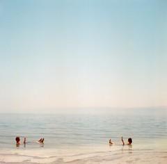 *reading (fangchun15) Tags: travel 120 6x6 film mediumformat middleeast jordan deadsea yashica roundtheworld yashicamat124g