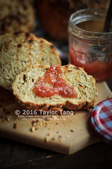 Homemade Seeded Bread (TailorTang) Tags: stilllife food bread 50mm baking seeds homemade jam sunflowerseed 5014 foodphotography pumpkinseed flaxseed hempseed chiaseed
