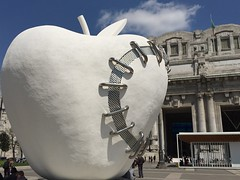 patched apple (Hayashina) Tags: italy white milan apple patched