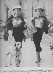 Maidenform 1956 (moogirl2) Tags: retro vogue 50s 1956 maidenform vintageads vintagelingerie vintagefashions vintagevogue 50sfashions