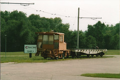 Tom Burke Photo East Troy WI 2003 Critter & Flatcar #2 (middlewest1) Tags: railroad wisconsin spur freight switcher flatcar easttroy trenttube