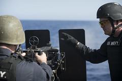160425-N-FQ994-239 (CNE CNA C6F) Tags: engineering destroyer mediterraneansea m240 50calibermachinegun ussporterddg78 crewserved