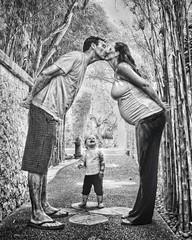 Family (Theo Widharto - sheko) Tags: family blackandwhite bw kissing hdr