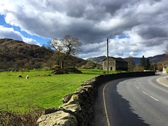 Beautiful Countryside (Marc Sayce) Tags: park lake field stone wall barn sheep district national cumbria ambleside drystone