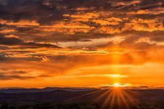 Sunrise (inlightful) Tags: morning sunset sky sun sunshine clouds sunrise evening sunrays sunbeams sunpillar atmosphericphenomena opticalphenomena