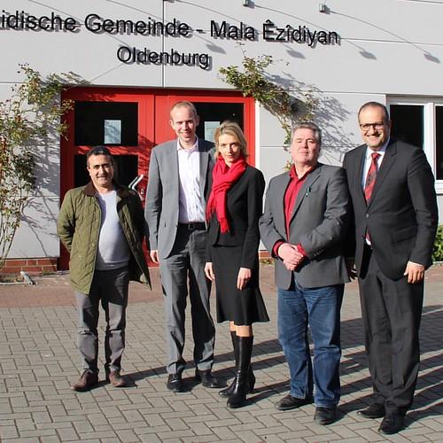 Besuch des Zentralrats der Yeziden in Deutschland mit meiner Bundestagskollegin Svenja Stadler MdB.