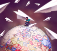 needing an adventure (mohammad jobaed) Tags: selfportrait globe creativeselfportrait conceptualphotography miniaturephotography mdjobaedkhan jobaedkhanphotography jobaedkhan jobaedkhanflickr miniaturebangladeshphotographer miniauturebangladeshi