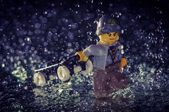 Damn this forecast (grzegorz.s) Tags: rain weather toy lego olympus angry skateboard skater 45mm