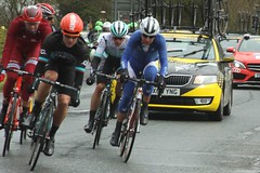 Breakaway (Steve Dawson.) Tags: uk england cars bike race canon eos is kat yorkshire cycle april service usm ef28135mm 93 87 29th mavic 158 breakaway neutral 2016 mgt f3556 50d ef28135mmf3556isusm katusha canoneos50d mathewcronshaw madisongenesis tourdeyorkshire nilspolitt jenswallays harswell