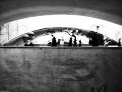 The Moscow Metro (photozalman) Tags: street shadow people blackandwhite bw man black art monochrome lines architecture contrast buildings square shower mirror blackwhite noir shot russia outdoor geometry moscow creative streetphotography documentary lifestyle monotone structure best human elements streetphoto abstraction moment minimalism sity bnw avant bresson bwphotography symbolism bwphoto avantgarde linearity monoart
