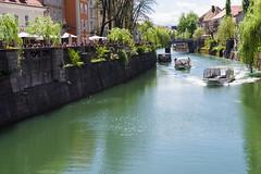 Ljubljana on a Saturday (E-klasse2010) Tags: old water river boats boat town spring cafe outdoor slovenia april ljubljana watercourse ljubljanica