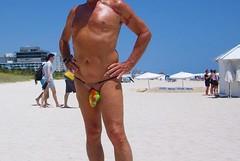 multi exhibitor mb (bmicro2000) Tags: man male beach bikini tiny gstring torpedo bulge manthong minimalswimwear microkini microbeachwear