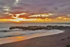Playa del Janubio. Lanzarote. Canaryislands. (amancio_perdiz) Tags: sunset costa sun sol beach long lanzarote playa canarias colores salinas puestadesol islas islascanarias canaryisland ongexposure