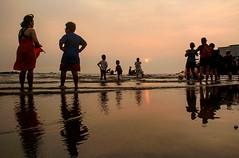 Meeting. (megatshamsulnizam) Tags: sunset beach nature seaside haze sundown hazy portdickson beachlover