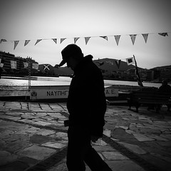 Hopeless (Argyro...) Tags: street people blackandwhite bw white black monochrome candid flag greece hopeless