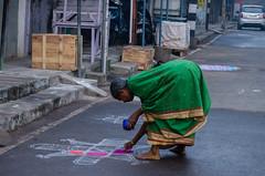 Rangoli by Indian Women (Ivon Murugesan) Tags: india festival festivals celebration celebrations festivity chennai tamilnadu pongal pondicherry bhogi southindia mahabalipuram hindufestival mamallapuram bogi boggi puducherry pongalfestival tamilfestival southindiafestival bhoggi