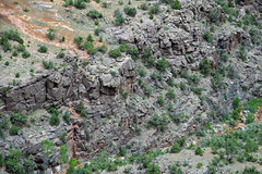 Black Canyon Formation (Paleoproterozoic, 1.759 Ga; Cold Shivers Point, Columbus Canyon, Colorado National Monument, Colorado, USA) 8 (James St. John) Tags: columbus black cold monument rock point colorado rocks plateau canyon formation national shivers schist precambrian metamorphic gneiss paleoproterozoic proterozoic