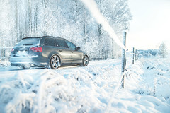 Quattro in winter wonderland (Mr.Narto) Tags: winter snow a4 audi wonderland quattro
