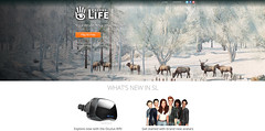 Secondlife.com (♛ Baronne ♛) Tags: winter snow season reindeer official hiver secondlife neige re homepage lindenlab officiel