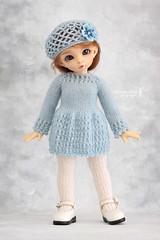 Outfit for YoSD (Maram Banu) Tags: blue outfit doll handmade bjd fairyland ante yosd littlefee fairystyle marambanu