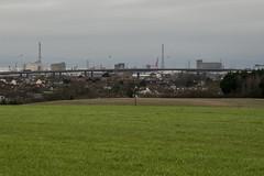 Green Suburban Industry (Stuart.67) Tags: sky green industry field mouth bristol grey dock nikon motorway wind pylons avon m5 turbine d800
