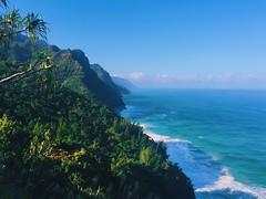 Kalalau Trail (mlee525) Tags: ocean beach nature hawaii hiking wanderlust kauai iphone kalalautrail vsco nāpalicoaststatepark vscocam