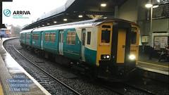 ARRIVA TRAINS WALES 150280 ARRIVING FROM CARDIFF CENTRAL AT CHELTENHAM SPA 06022016 (MATT WILLIS VIDEO PRODUCTIONS) Tags: from wales trains spa cheltenham arriving arriva maesteg at 150280 06022016