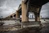LA River (fhoerr) Tags: california bridge water rain weather us losangeles 6thstreet losangelesriver rushingwater elniño 6thstreetbridge laskyline