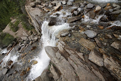 Tangle Falls (AmandaMT) Tags: park trip mountain canada water beauty waterfall rocks jasper vibrant august rapids alberta wilderness park mountains tanglefalls road trip parkway august national rocky icefields 2015