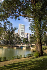 Alf Ribeiro 0179 0148 (Alf Ribeiro) Tags: park street city travel blue summer brazil sky people urban lake plant building tree green southamerica nature water beautiful skyline architecture season landscape town leaf cityscape view saopaulo outdoor walk brazilian metropolis build aclimacao