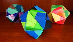 Origami Polyhedrons (Wolfram Burner) Tags: art make paper origami creation math colored mathematics stellated burner making polyhedron wolfram octohedron