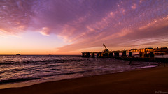Dock under the sunset (PhilBrownM) Tags: sunset red sea sky costa holiday beach clouds canon landscape atardecer coast muelle mar dock paradise afternoon outdoor playa tokina cielo nubes 1100 viadelmar canont3