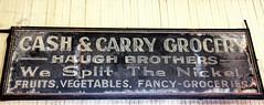 Grocer sign (Walt Barnes) Tags: ca history museum canon vintage advertising eos calif sp grocer crockett topaz southernpacific traindepot vintagesign 60d canoneos60d eos60d topazclarity crocketthistoricalmuseum topazinfocus wdbones99 haughbrothers