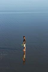 (felix.h) Tags: blue newzealand christchurch man beach water canon eos coast pacific shoreline canterbury pacificocean shore newbrighton 400d canoneos400d digitalrebelxti eoskissdigitalx tokina5013528 tokina50135mm28