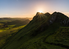 Chrome Hill Sun Star (danjh75) Tags: mountains sunrise landscape nikon derbyshire peakdistrict moors paths goldenhour chromehill