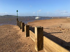 Estuary (Ron Metcalfe) Tags: sea seascape beach sailboat boats space estuary groyne iphone6s