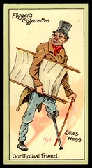 Cigarette Card - Silas Wegg (cigcardpix) Tags: vintage advertising ephemera caricature dickens cigarettecards