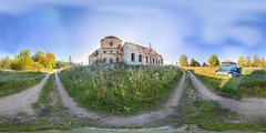 4. Abandoned church in s.Trestna (ilya_yakunin) Tags: panorama church nature canon village russia 360 360x180 spherical 360 sphericalpanorama equirectangular 18135 photosphere 550d canon550d canoneos550d  trestn