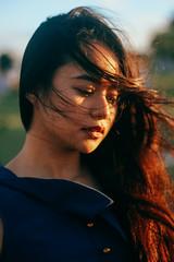 Wind (jazz-srm) Tags: sunset portrait canon 50mm glow wind philippines lightroom 600d