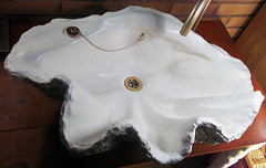 Grey Giant Clam Shell SINK 7 (LittleGems AR) Tags: ocean sea sculpture sun beach home statue giant bathroom shower aquarium soap sand bath sink natural contemporary unique decorative shell craft style toilet towel clam basin special shampoo taps wash ornament gift seashell pearl nautical reef decor spa luxury opulent fossils oneoff clamshell mollusks cloakroom bespoke tridacna sculpt crafted gigas facetowel