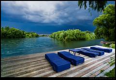 Tarde de tormenta en el rio Negro