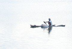 A fisherman's life (eyenamic) Tags: life people reflection fisherman nikon sailing outdoor minimalism backwater kalpakkam d5100