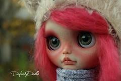 Matilda (Isa Mira) Tags: pink cute hair doll dolls ooak mohair blythe custom commission redo dafnery