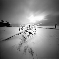 seesaw (Foide) Tags: winter sky snow seesaw pinhole nordic winterland teetertotter nolens f137
