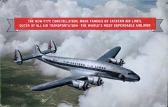 The New-Type Constellation, Eastern Air Lines (SwellMap) Tags: architecture plane vintage advertising design pc airport 60s fifties aviation postcard jet suburbia style kitsch retro nostalgia chrome americana 50s roadside googie populuxe sixties babyboomer consumer coldwar midcentury spaceage jetset jetage atomicage