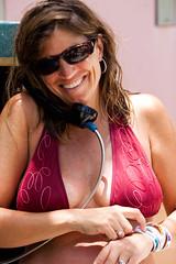 Phone Call (Thomas Hawk) Tags: vacation beach phone julia fav50 telephone spouse atlantis bikini wife bahamas nassau paradiseisland juliapeterson fav10 fav25 mrsth