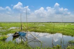 Our beautiful motherland! (ashik mahmud 1847) Tags: blue sky people cloud man color green water beautiful river boat land bangladesh d5100