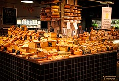 Dutch Cheese Display at the Market in Rembrandtplein, YUM! (PhotosToArtByMike) Tags: holland netherlands dutch amsterdam cheese market rembrandtplein dutchcheese rembrandtsquare cheesedisplay